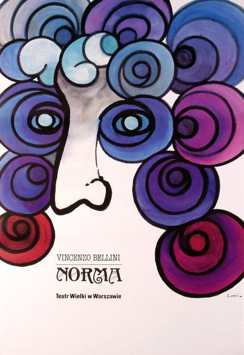 Norma - Bellini, Polish Opera Poster