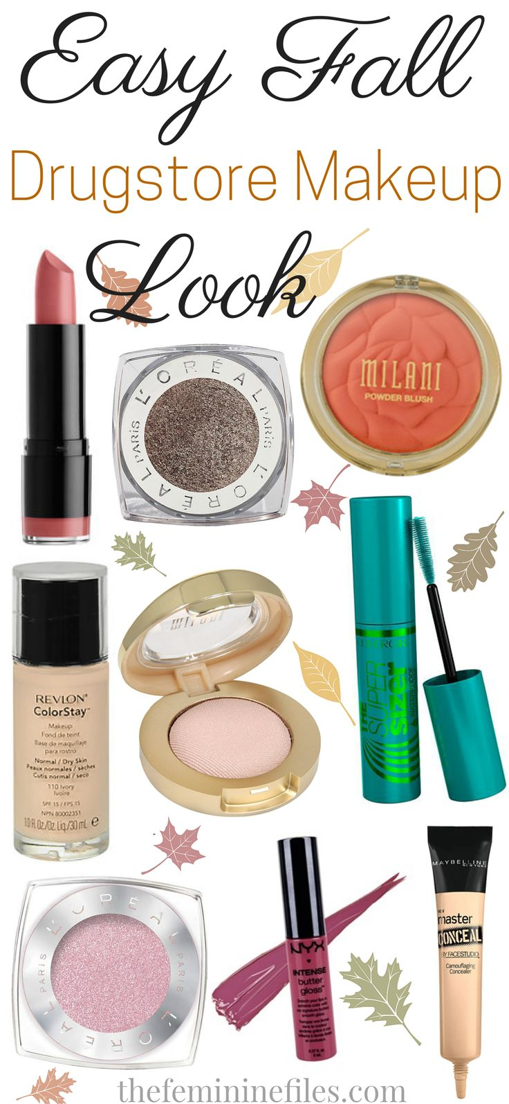 Easy Fall Drugstore Makeup Look!