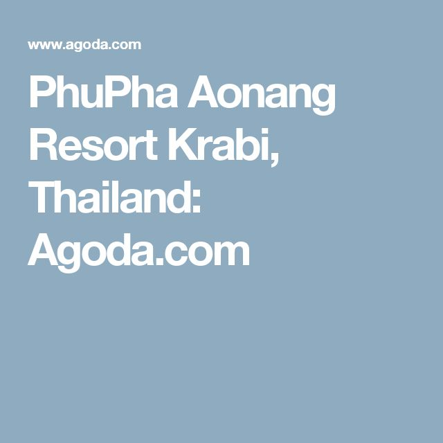 PhuPha Aonang Resort Krabi, Thailand: Agoda.com