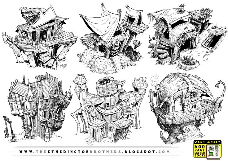 6 Creature House Concepts by STUDIOBLINKTWICE on deviantART