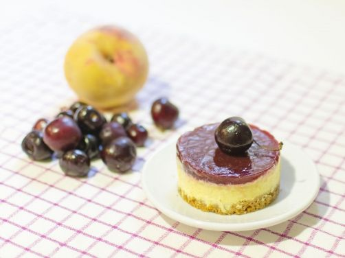 Pastel helado de melocotón y cerezas para #Mycook http://www.mycook.es/receta/pastel-helado-de-melocoton-y-cerezas/
