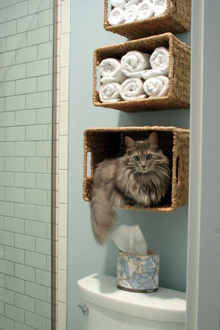 Un como porta-gatto da bagno