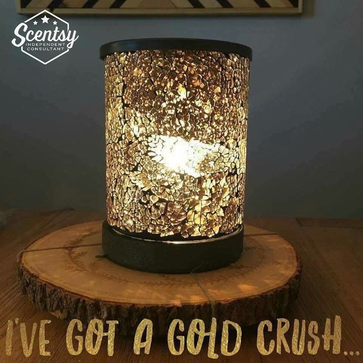 """Scentsy """"Gold Crush"""" wax warmer new for fall and winter 2016 #wickless #candles #scentsbykris"""