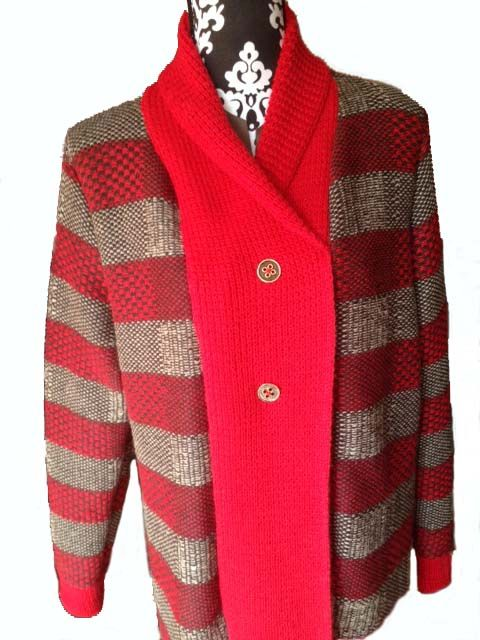 100% Alpaca lined winter coat. Add some colour to a dull winter day