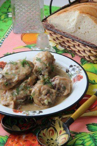 Вкусная Курица в Сметанном Соусе (очень вкусно с картофельным пюре)