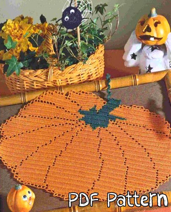 Harvest Pumpkin Filet Crochet Pdf Filesymbol Chart Only Instant