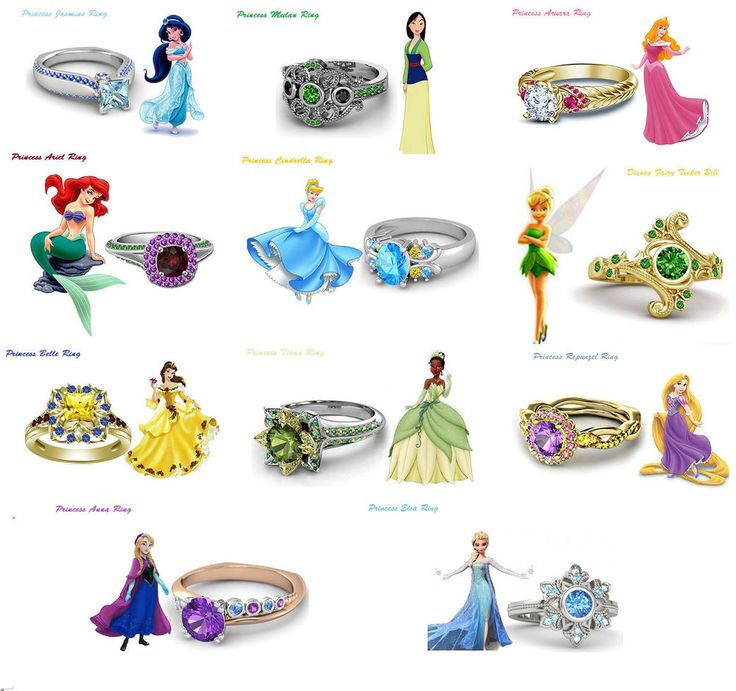 Eye-Catching .925 Sterling Silver Disney Princess Engagement Ring For Women's  #adorablejewelry