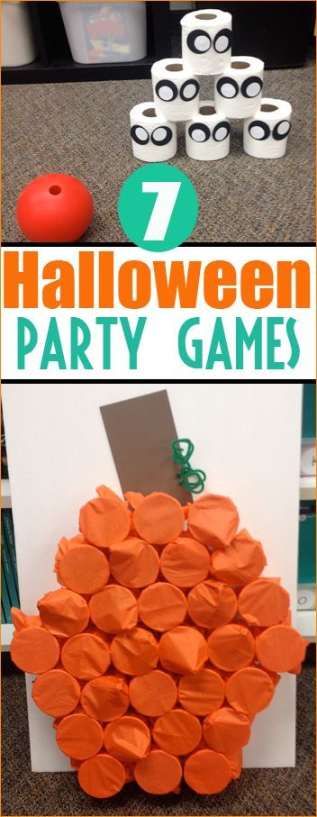 7 Halloween Party Games.  Boo-rific games and activities for a Halloween Class Party or Kids Halloween Party.