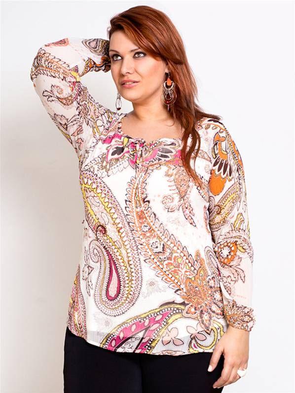 Blusa estampada carisal en tallas grandes