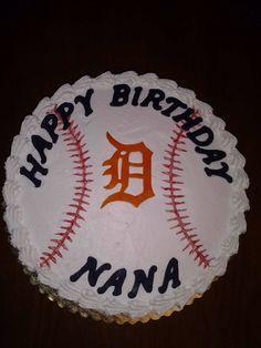 Detroit Tigers baseball cake.