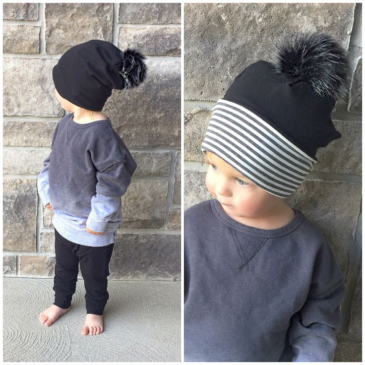 Winter hat and slouchy pants by Lil Slouchies. Bamboo. Baby boy. Baby fashion