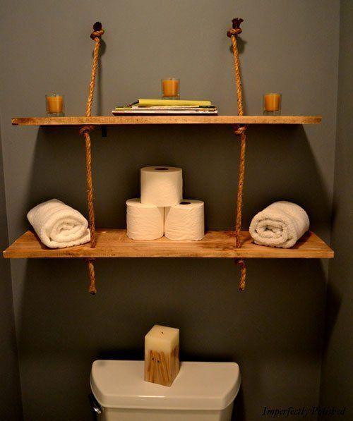 DIY Rustic Rope Shelves   — The CSI Project