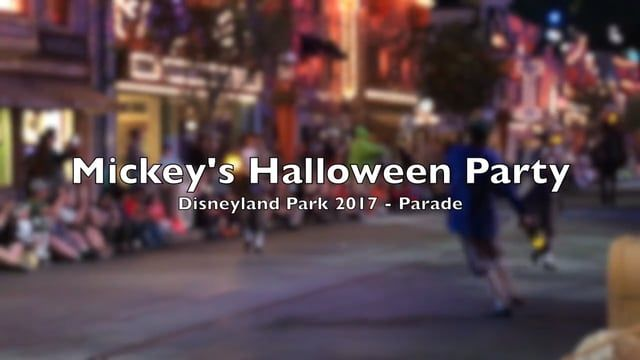 Highlights of Mickey's Halloween Party Parade 2017 - focusing on talented dancers