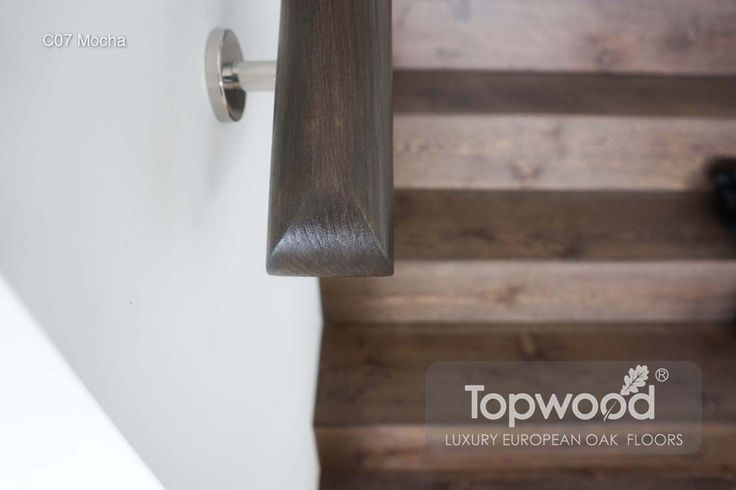 timber staris with matching colour handrail - Timber Flooring, European Oak Engineerred Flooring Perth WA