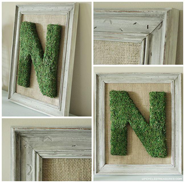 10 Ways to Use Moss in Spring Decor via UpcycledTreasures.com