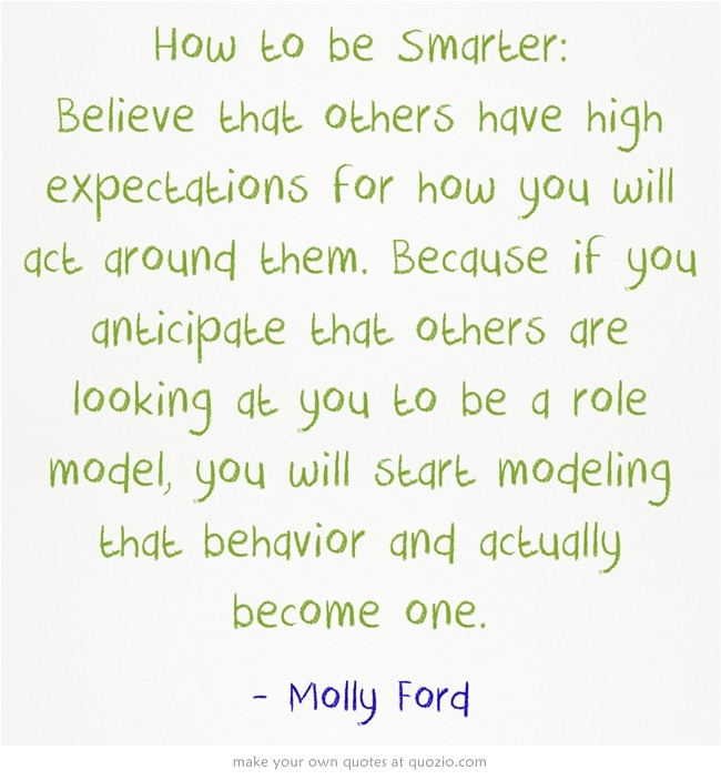 how to become a role model for others