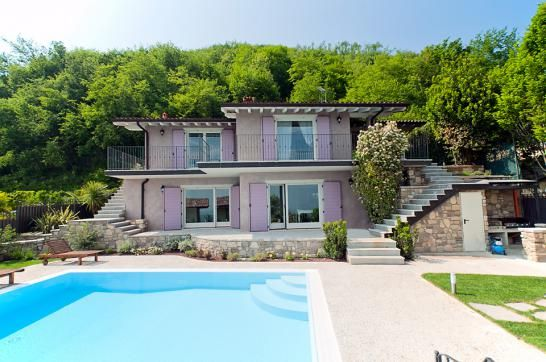 4 bedroom, 5 bathroom villa with private heated pool and superb lake and mountain views in the hills above Salò, #Lake Garda.