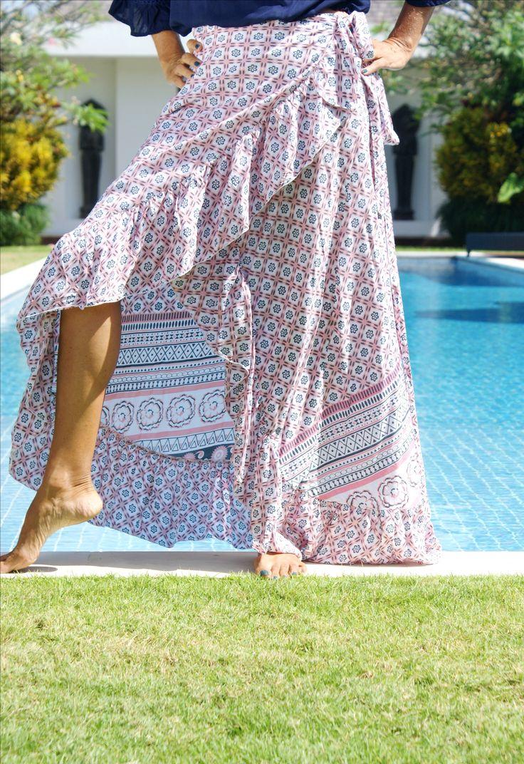 Louise Frill Wrap Skirt.....
