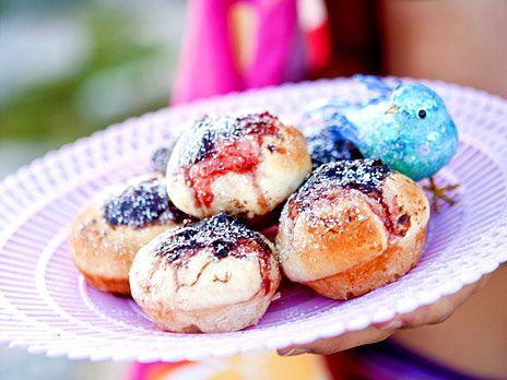 Nutella- och jordgubbsbullar | Köket.se