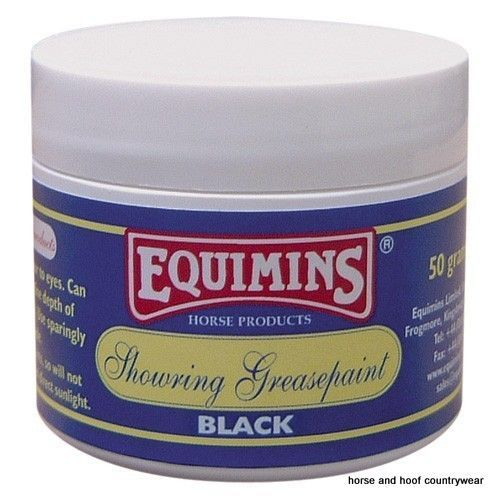 Equimins Showring Greasepaint Make-up for horses A versatile greasepaint to add glamour to eyes Can be used on nose and muzzle to define depth of colour and to conceal any blemishes.