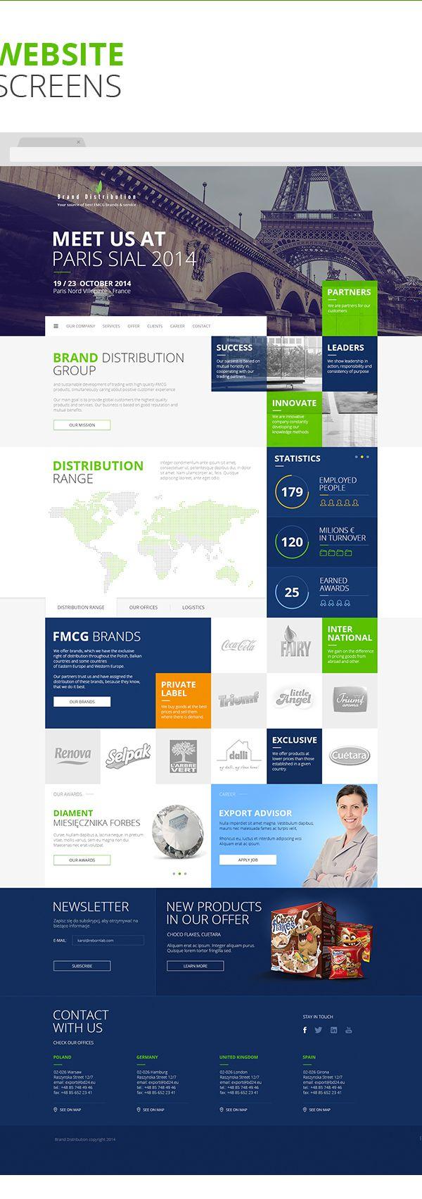 Brand Distribution - Key Visual & Website on Web Design Served