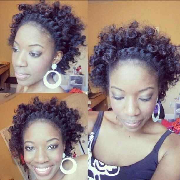 Popular Loose Flat Twists Into Bantu Knot NaturalHair Hairstyle  Chocolate