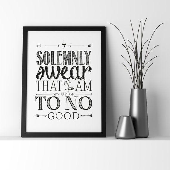 Harry Potter // Harry Potter Quote // Harry Potter Typographic Poster // Wall Art