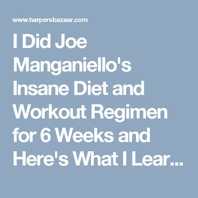 I Did Joe Manganiello's Insane Diet and Workout Regimen for 6 Weeks and Here's What I Learned  - HarpersBAZAAR.com