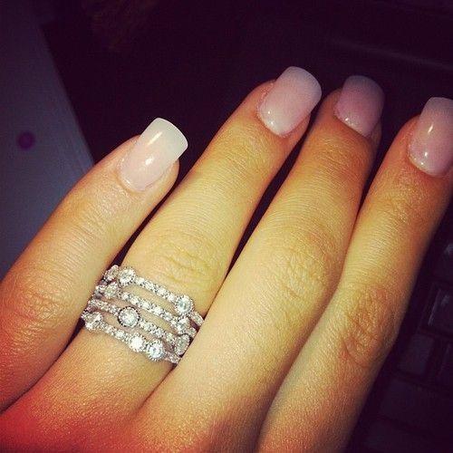 Amazing Nail Art: Beautiful Multi Banded Ring With Loads Of Diamonds
