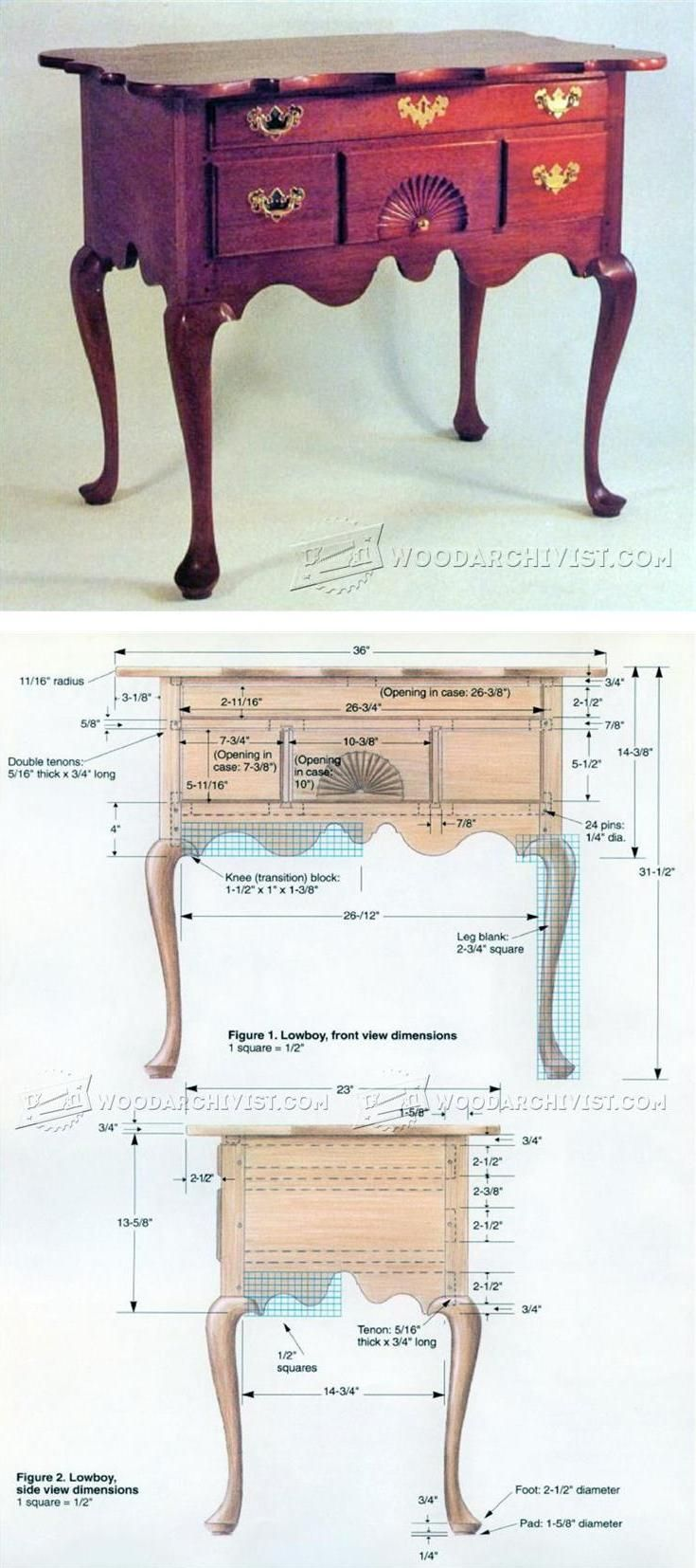 Lowboy Plans - Furniture Plans and Projects | WoodArchivist.com