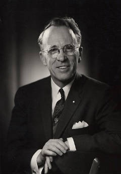 Tommy Douglas  Beloved Canadian politician and considered the father of our healthcare system. Grandfather of Keifer Sutherland.