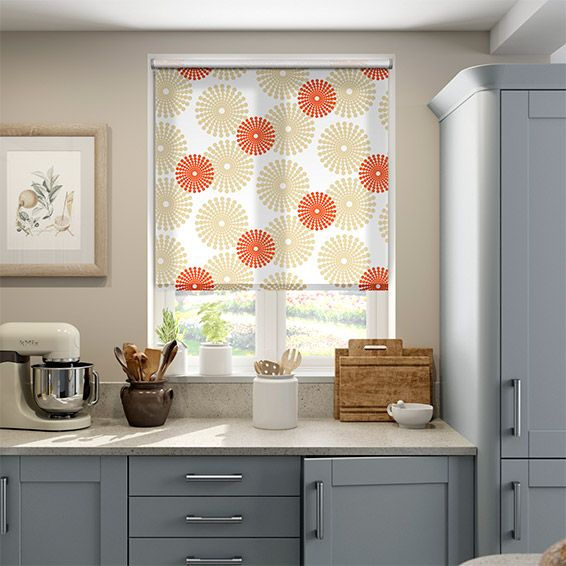Bring an explosion of colour into your home with the retro Salina Orange roller blind.