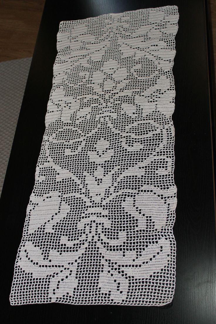 Filet Crochet Runner For Jenn S Coffee Table Donna Did