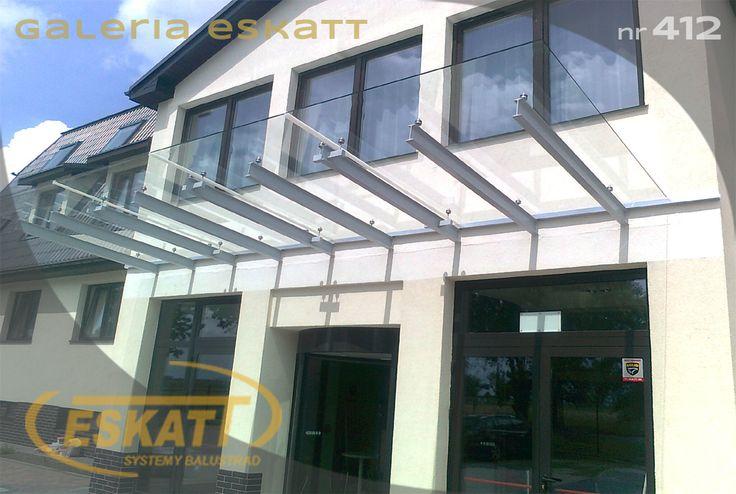 Glass roof with stainless steel profiles #balustrade #eskatt #construction #roof