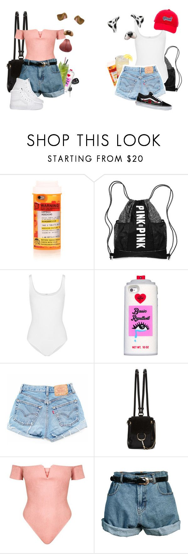 """Out and About"" by bears2026 ❤ liked on Polyvore featuring Moschino, Wolford, Valfré, Chloé, Retrò and Vans"