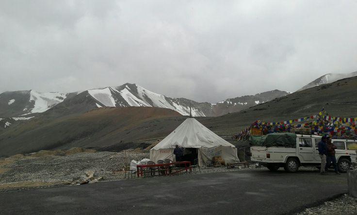 At Taglang La Pass 17582ft