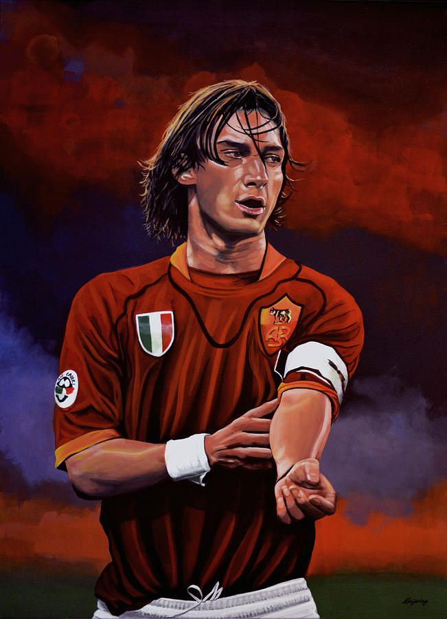 Francesco Totti Painting  - Francesco Totti Fine Art Print