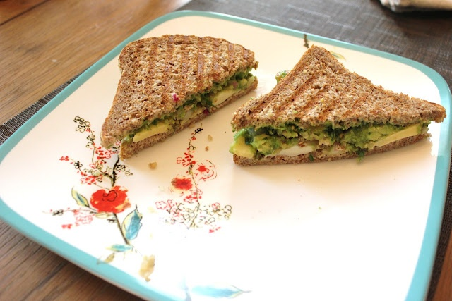The Shea's: Guacamole grilled cheese