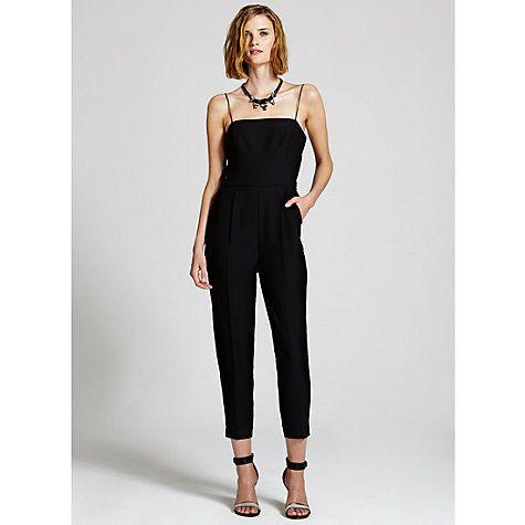 Buy Mint Velvet Beaded Layer All-in-One, Black Online at johnlewis.com