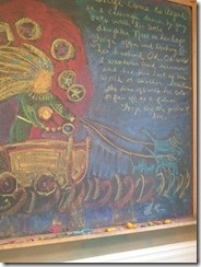 Waldorf ~ 4th grade ~ Norse Mythology ~ Freya ~ chalkboard drawing