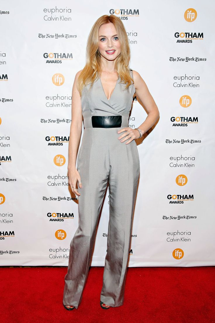 """Heather Graham at the Gotham Awards - NYTimes.com She arrived in a silvery jumpsuit a little more tailored than those popular in the """"Boogie Nights"""" era that she inhabited so memorably in the 1997 Paul Thomas Anderson movie. (Photo: Cindy Ord/Getty Images)"""