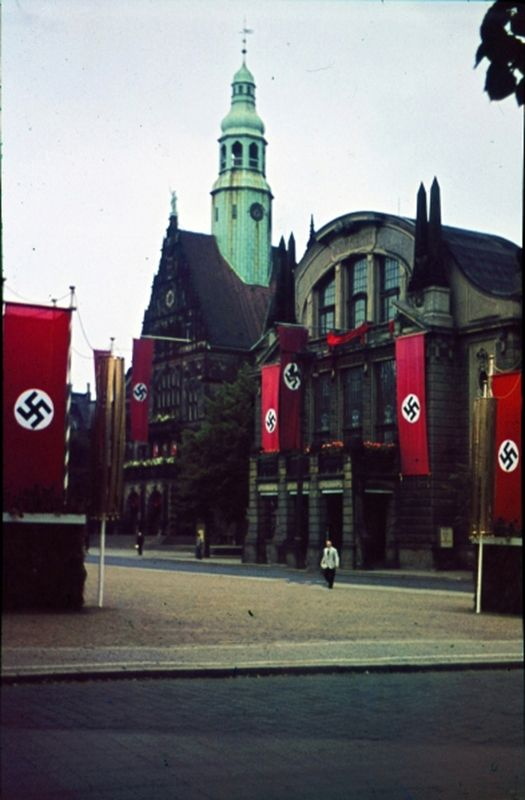 Town Hall & Theater in Bielefeld, Germany 1941