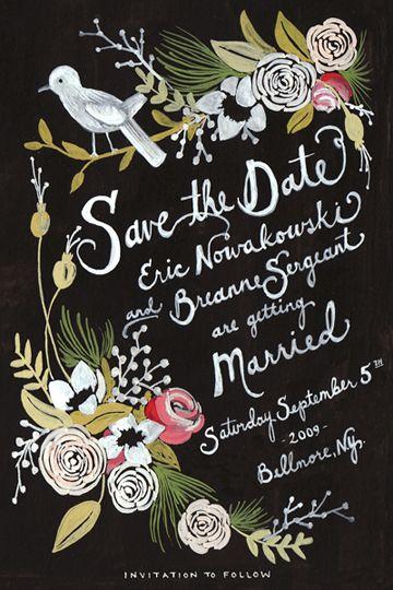 Stationery Thursday} Illustrated Invitations - Elizabeth Anne ...