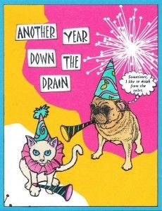 Great card with pugs by Joe Morgan :): Joe Projects, Years Cards, Pugs Birthday, Birthday Cards, Things Pugs, Las Vegastamp, Joe Morgan, Living Las, Years Blog