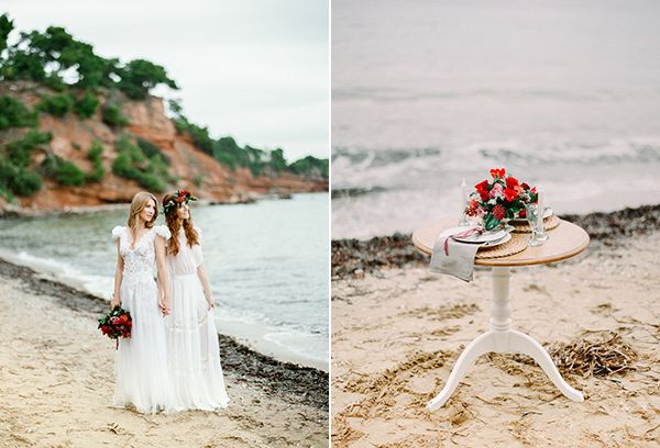 Dreamy bridal shoot on the beach  See more on Love4Weddings  http://www.love4weddings.gr/dreamy-bridal-shoot-on-the-beach/