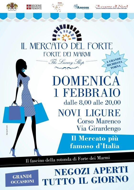 Il mercato del Forte a Novi Ligure domenica 1 febbraio 2015