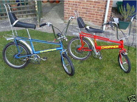 Raleigh Chopper Bicycle...the blue one is just like the one I had. :(