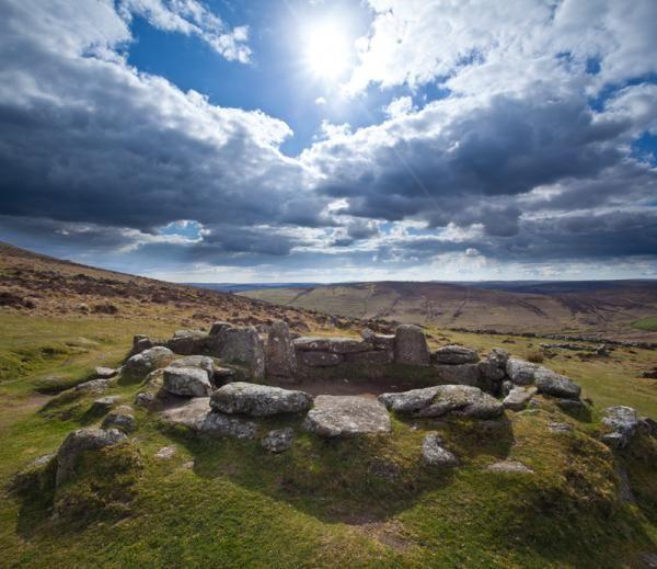Grimspound Bronze-Age Village, Dartmoor, Devon