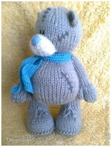 Мишка Тедди — вязание спицами, описание схем / Likez