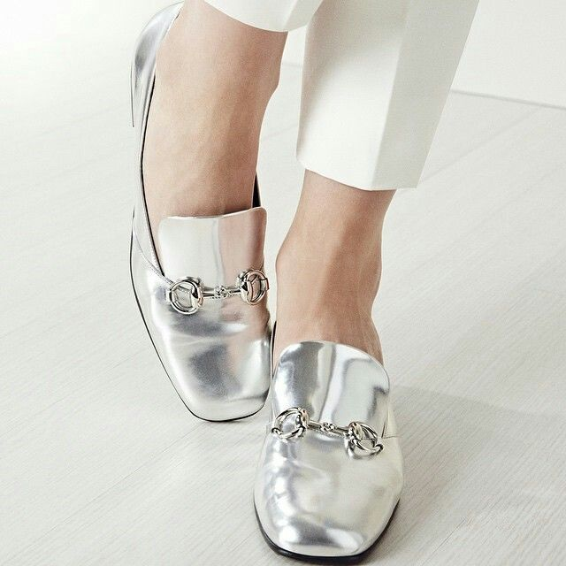 Gucci silver flats #womens #fashion #trendy #womens #shoes - 33 Best Stylish Women's Flat Shoes Images On Pinterest Flat